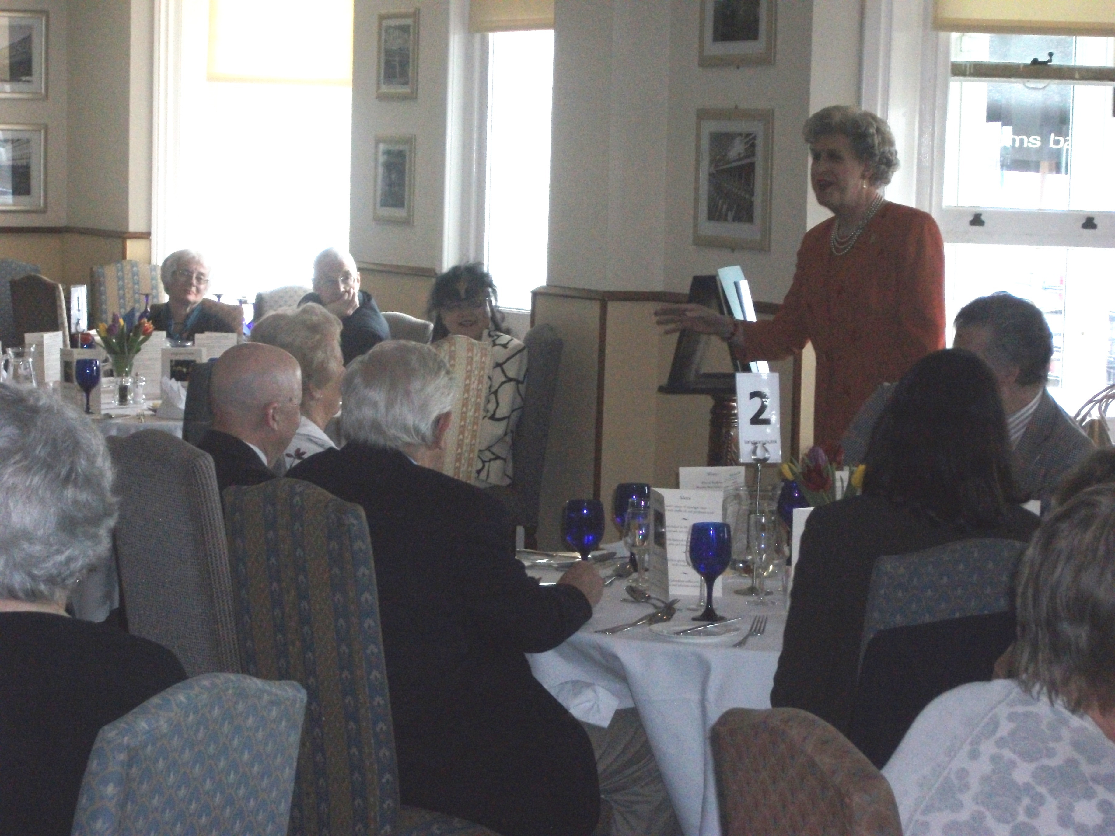 Lady Crabtree entertains at the Langham, 2012